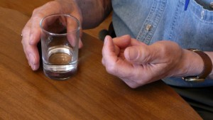 man taking glucosamine for gout